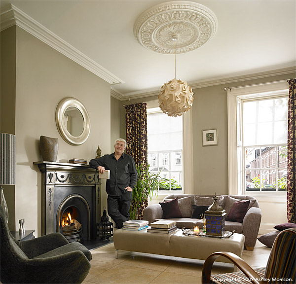 Andrew Brennan in the living room of his Grade II-listed Georgian townhouse in Belfast.