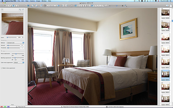 One of the first pictures taken in the Lakeview double bedroom at the rear of the Hodson Bay Hotel.