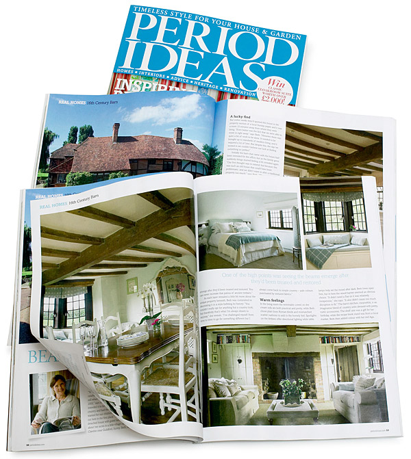 Pages 50 to 56 in the April 2012 issue of Period Ideas magazine featuring Beth and Jason Cooper's 16th-century house in Surrey.