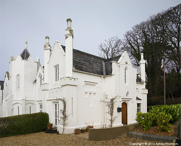 Rachel and Philip Pitman's 1830 gothic style home near Holywood in County Down.