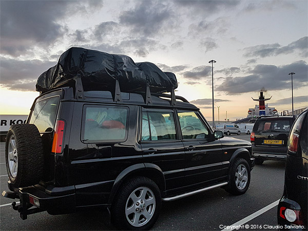The Land Rover at the port after the shoot at the Trump International Golf Hotel near Aberdeen in Scotland.