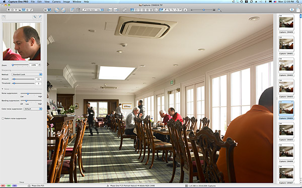 Setting up shot of the restaurant in the Clubhouse at the Trump International Golf Links Hotel near Aberdeen in Scotland.
