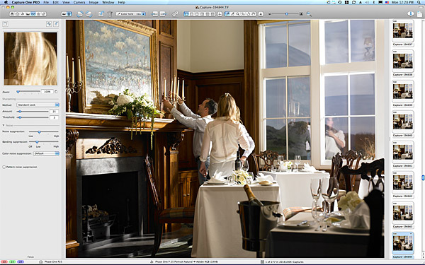 Setting up the private dining shot in the Clubhouse at the Trump International Golf Links Hotel near Aberdeen in Scotland.