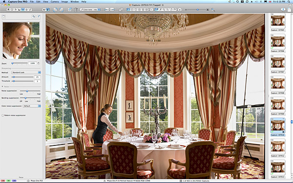 One of the last pictures taken of the Pantheon Suite at the K Club in County Kildare
