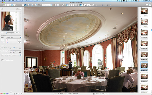 One of the first pictures taken in the River Room Restaurant at the K Club in County Kildare