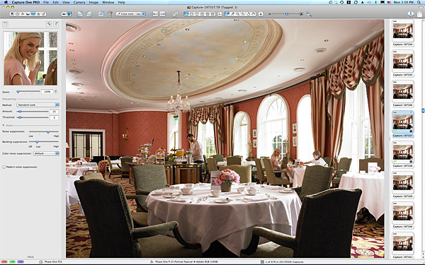 One of the last pictures taken in the River Room Restaurant at the K Club in County Kildare