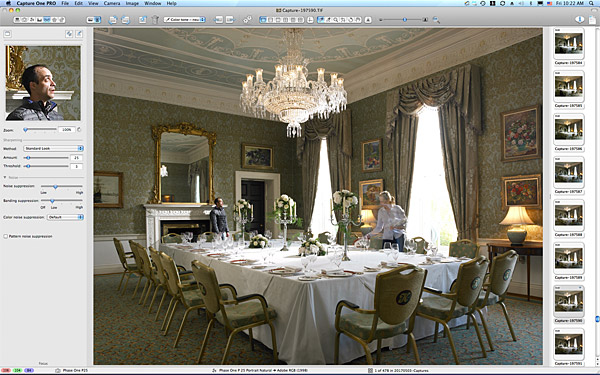 One of the pictures taken in the John Jefferson Smurfit Room at the K Club in County Kildare.