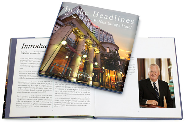 The book called 'In the Headlines' - the story of the Belfast Europa Hotel - by Clive Scoular.