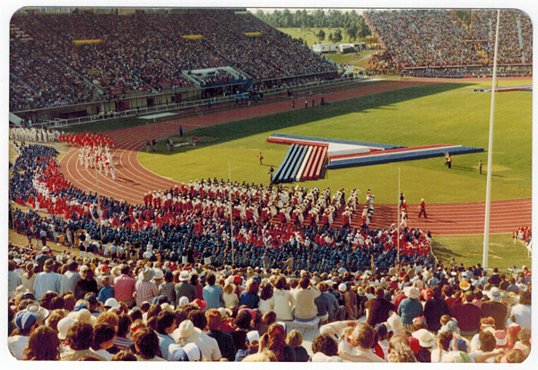 Opening Ceremony at the 1982 Commonwealth Games